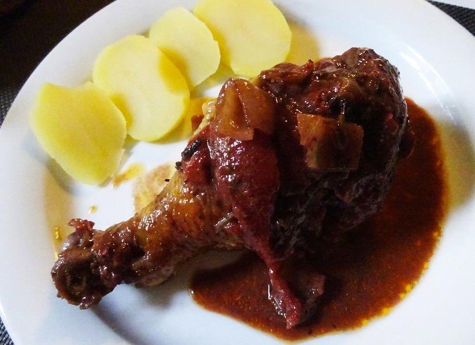Cosce di pollo in umido alla senape