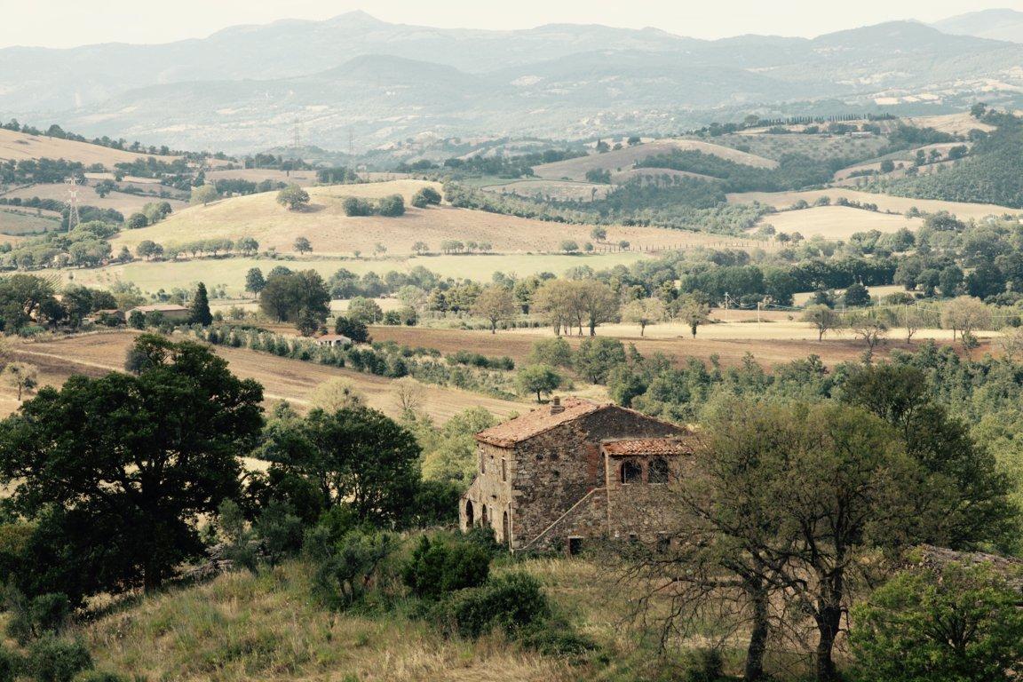 Panorama della tenuta del Pelagone - Funghi - I Piaceri della Maremma